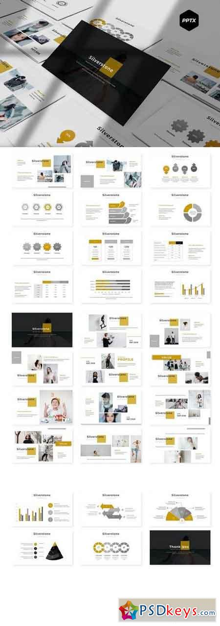 Silverstone - Powerpoint, Keynote, Google Sliders Templates