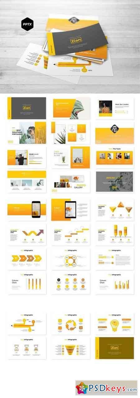 Zian - Powerpoint, Keynote, Google Sliders Templates