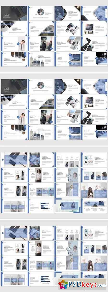 Mai - Powerpoint, Keynote, Google Sliders Templates