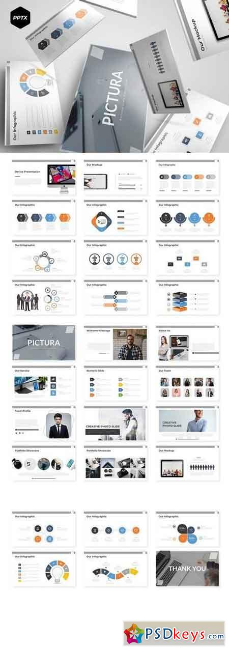 Pictura - Powerpoint, Keynote, Google Sliders Templates