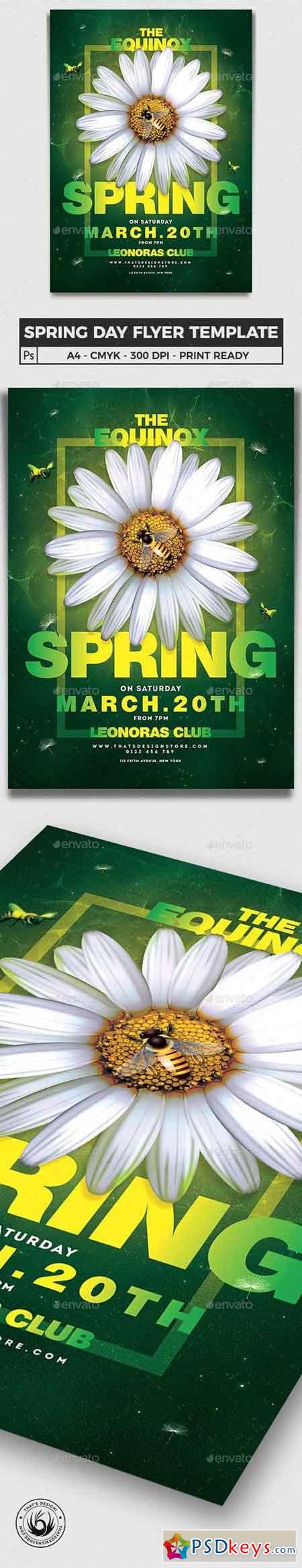 Spring Day Flyer Template V3 23131740