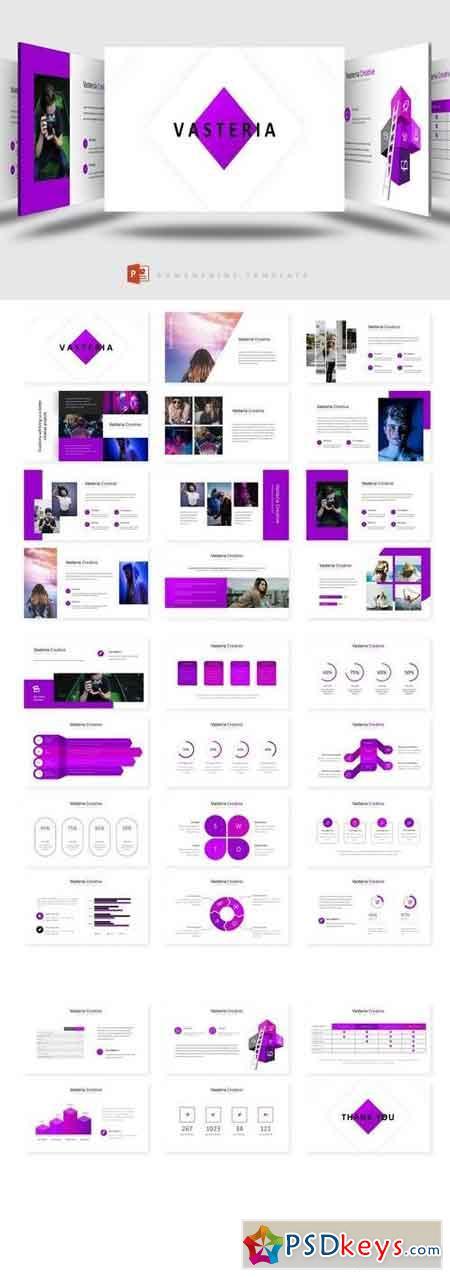 Vasteria - Powerpoint, Keynote, Google Sliders Templates