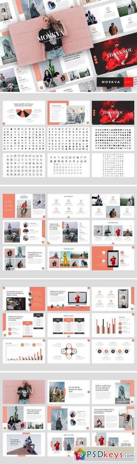 Moskva - Powerpoint, Keynote, Google Sliders Templates