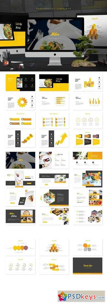 Milon - Powerpoint, Keynote, Google Sliders Templates