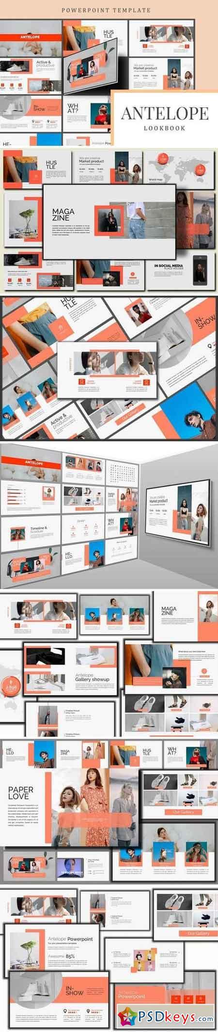 Antelope Lookbook - Powerpoint, Keynote, Google Sliders Templates