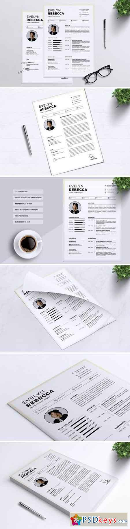 Minimalist CV Resume Vol. 06
