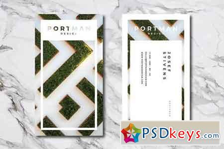 Portman Personal Business Card Template