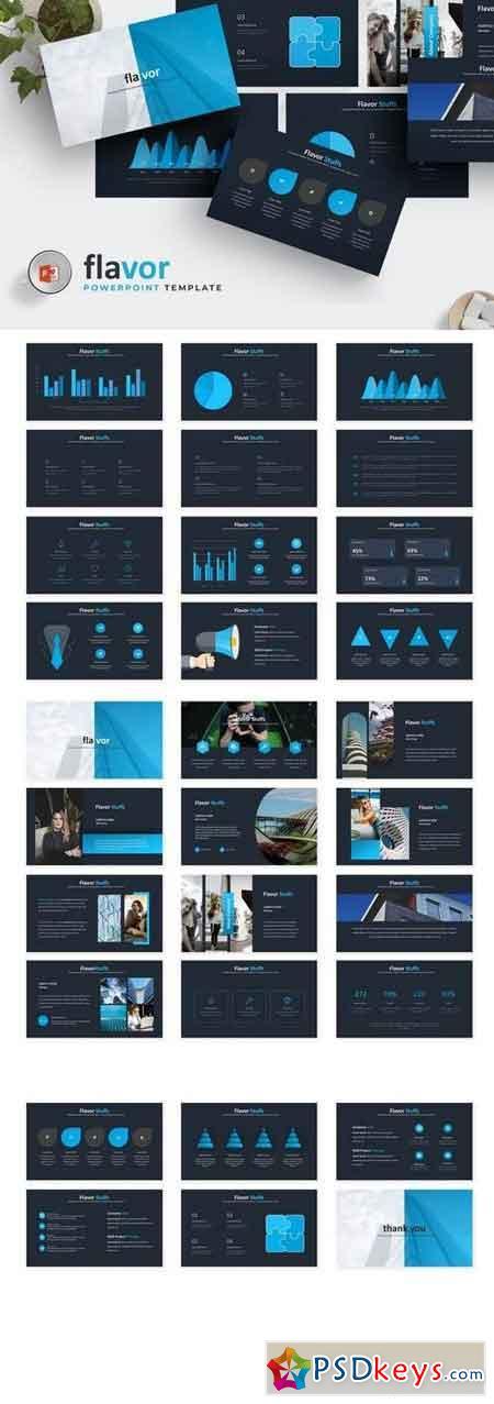 Flavor - Powerpoint, Keynote, Google Sliders Templates