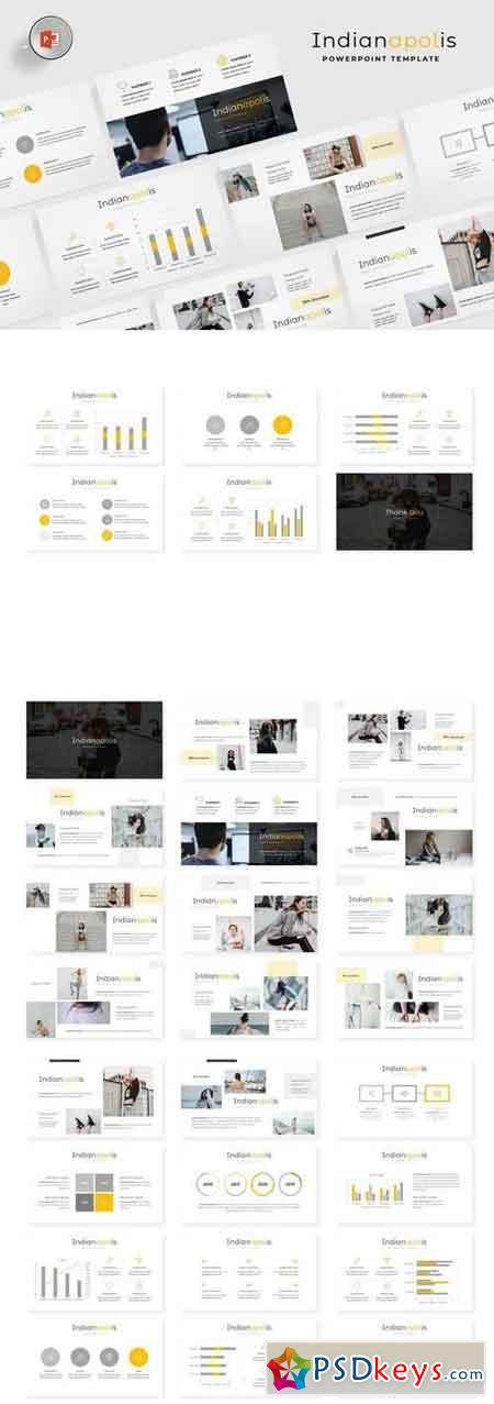 Indianapolis - Powerpoint, Keynote, Google Sliders Templates
