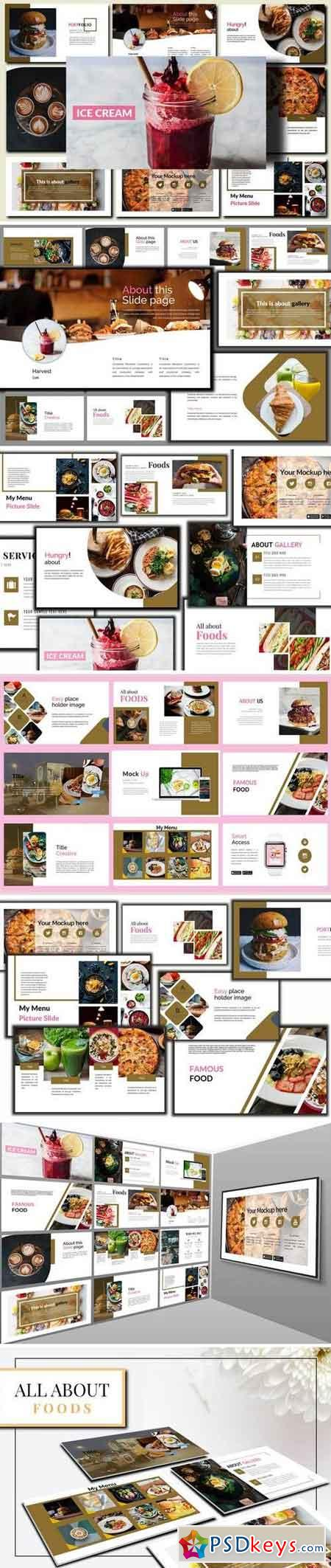 Delicious Food - Powerpoint, Keynote, Google Sliders Templates