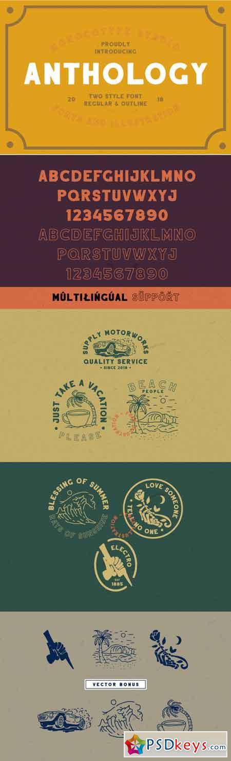 Anthology – Two Style & Vector Bonus 3518796