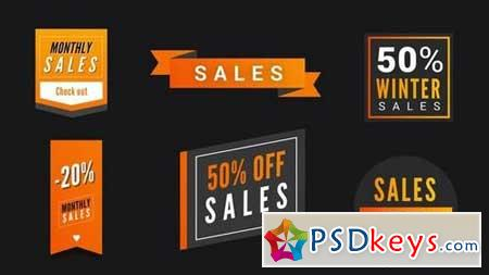 Modern Sales Badges Pack 160990 After Effects Projects