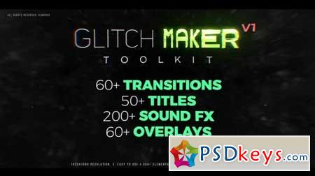 GlitchMaker Toolkit 350+ Elements 66116 After Effects Projects