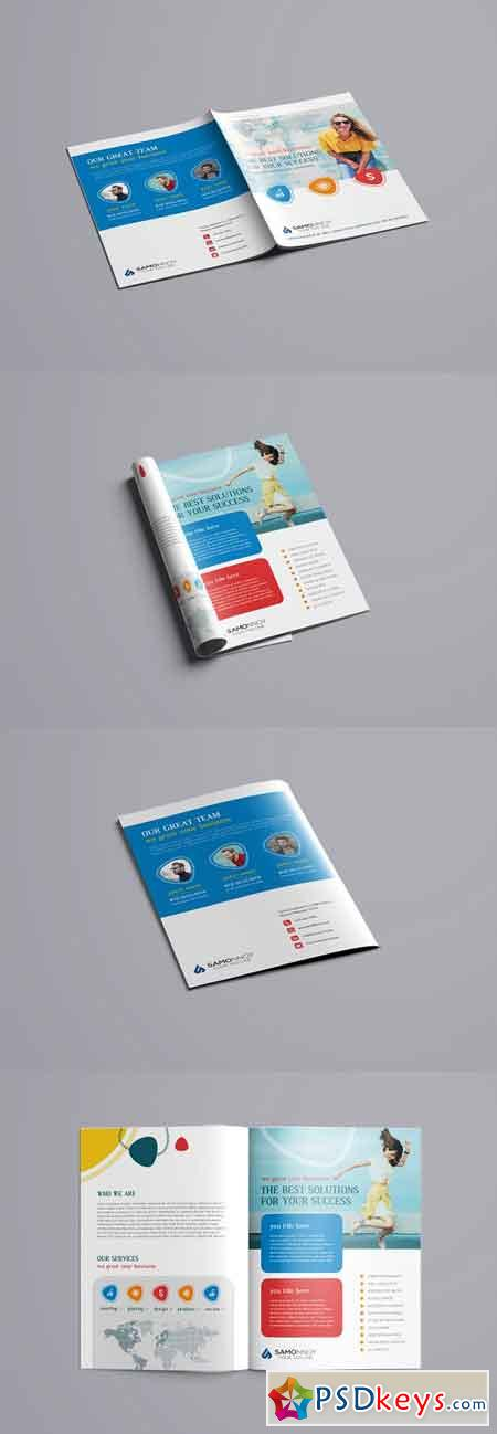 Bi-Fold Brochure PSD Template 3281753