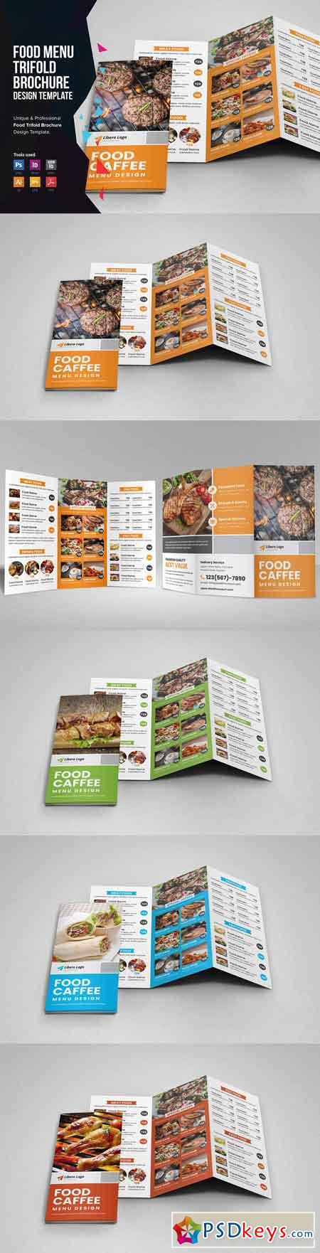 Food Menu Trifold Brochure v2 3361495