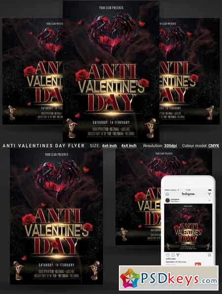 Anti Valentines Day Flyer 3349832