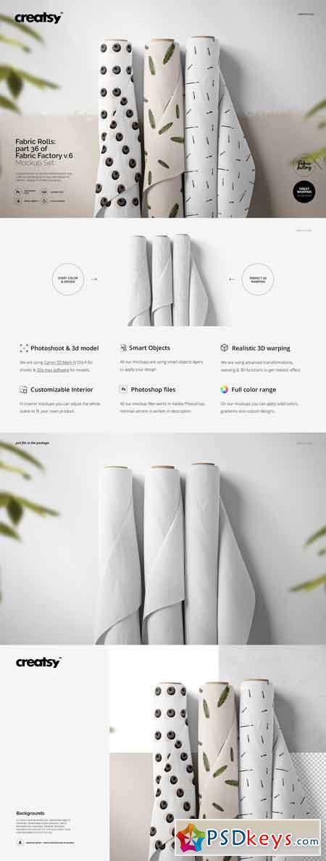 Fabric Rolls Mockup 36 FF v 6 3334265