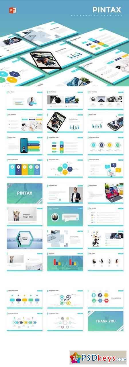 Pintax - Powerpoint, Keynote, Google Sliders Templates