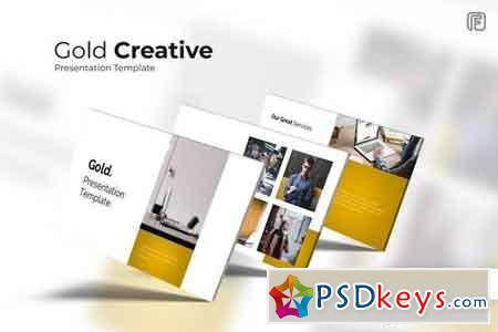 Gold - Creative Powerpoint, Keynote, Google Sliders Templates