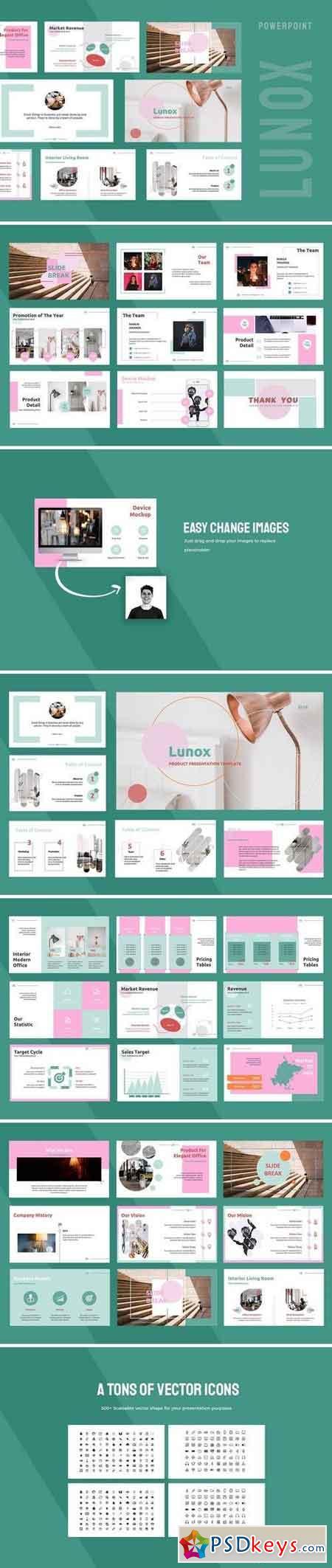 Lunox - Powerpoint, Keynote, Google Sliders Templates