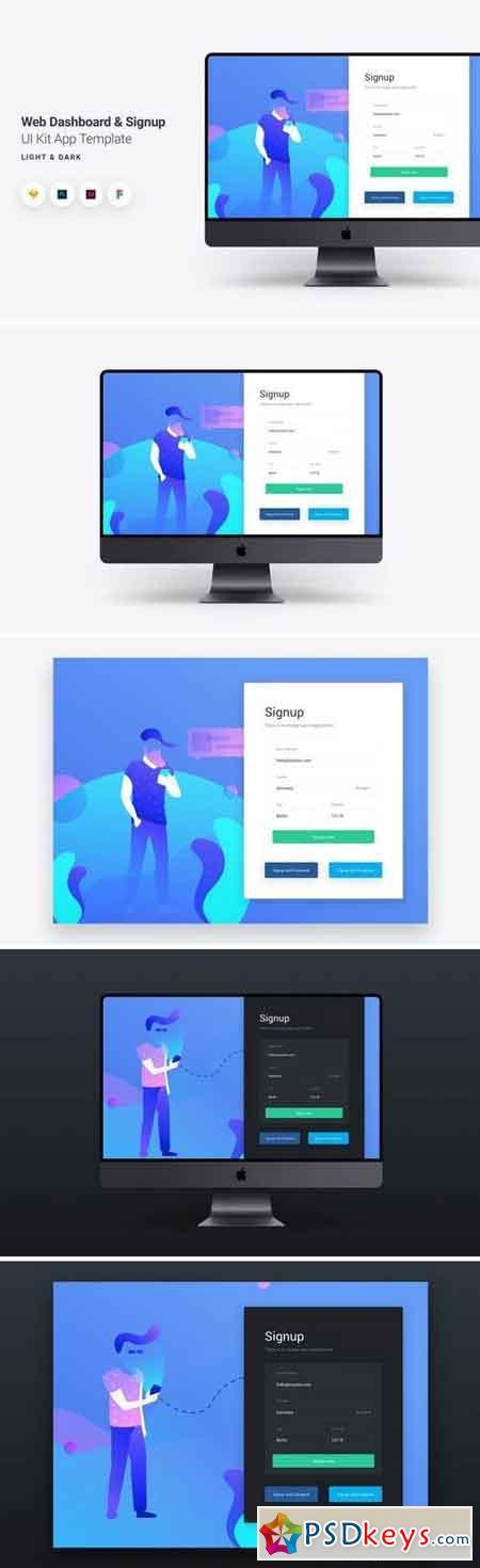 Web Dashboard & Signup UI Kit App Template 10 -S7TXU8