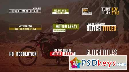 15 Glitch Titles 161382 After Effects Projects