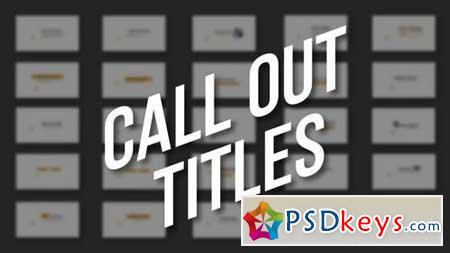4k Call Out Titles 161487 After Effects Projects