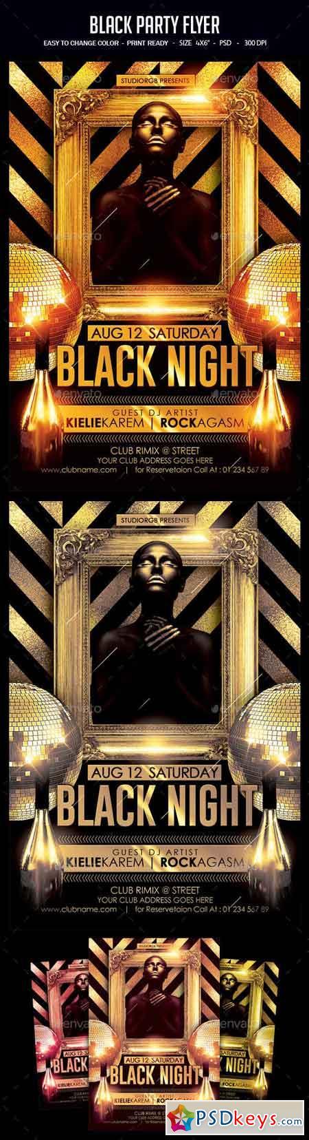 Black Party Flyer 23115698