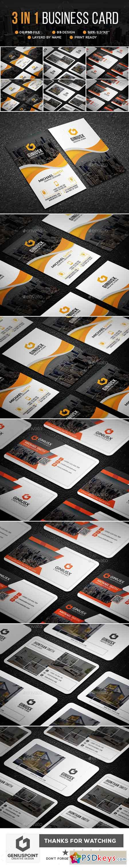 3 in 1 Business Card Bundle 23117698