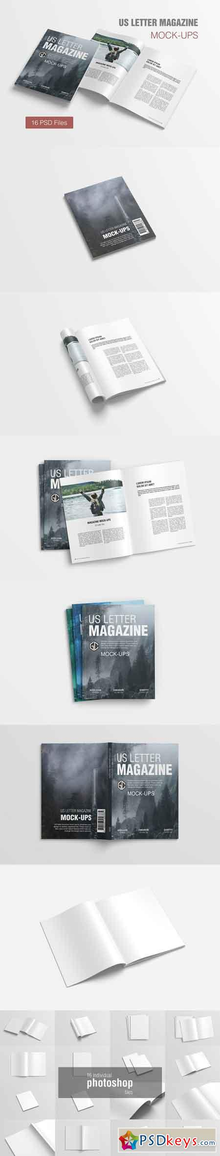 US Letter Magazine Mockup 2855747