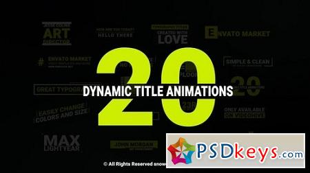 Dynamic Titles 22889048 After Effects Project