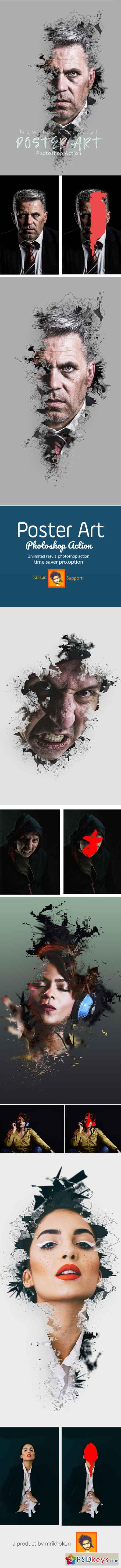 Poster Art Photoshop Action 23094765