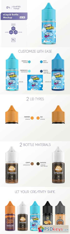 eLiquid Bottle Mockup v 1A 3319864