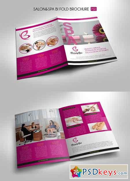 Salon Spa Bi-Fold Brochure Template 3308873