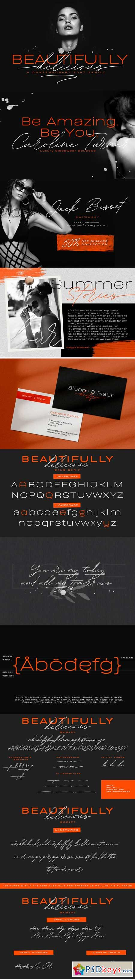 Beautifully Delicious Font Family 3369010