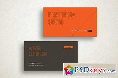 Performa Studio Business Card Template