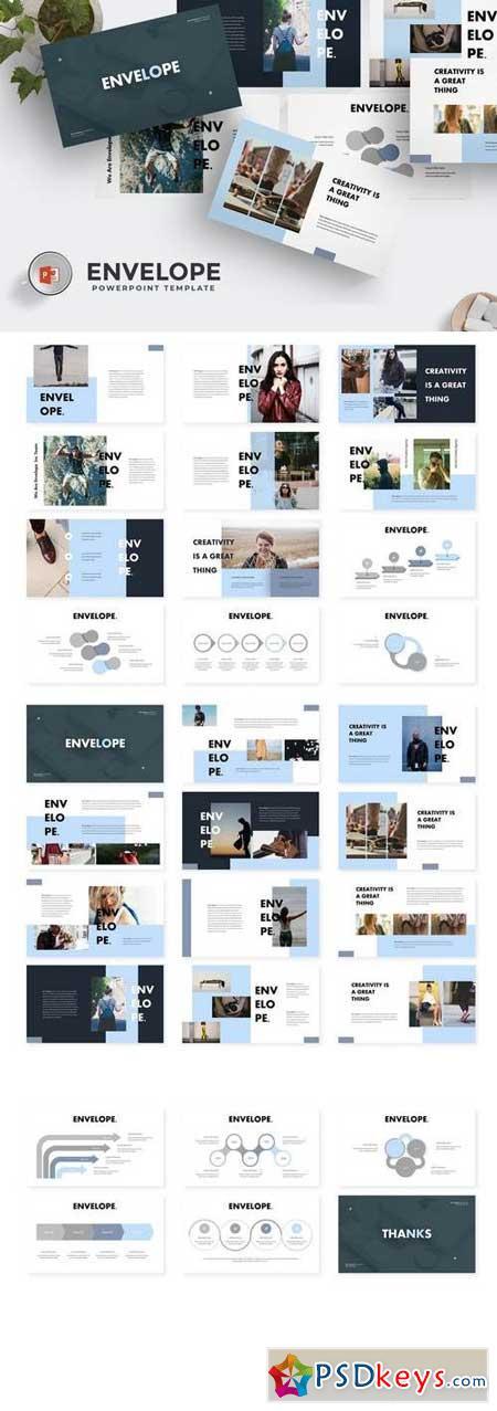 Envelope - Powerpoint, Keynote, Google Sliders Templates