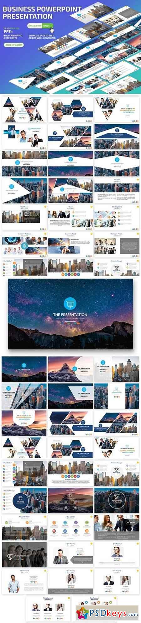 Business Powerpoint and Keynote Presentation Template