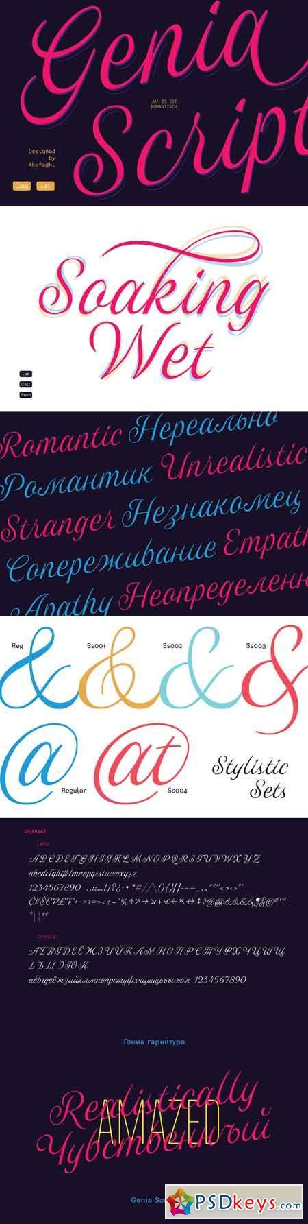 Genia Script Typeface 3375467