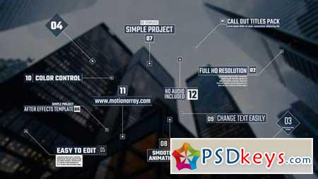 Call Out Titles Pack 162689 After Effects Projects