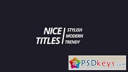 Modern Titles 163023 Premiere Pro Templates