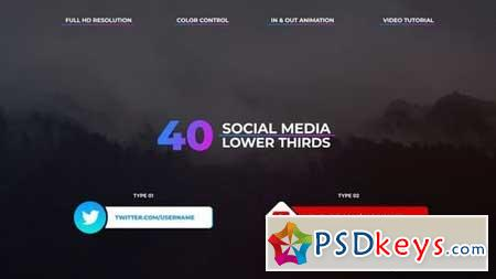 Social Media Lower Thirds 162559 After Effects Projects