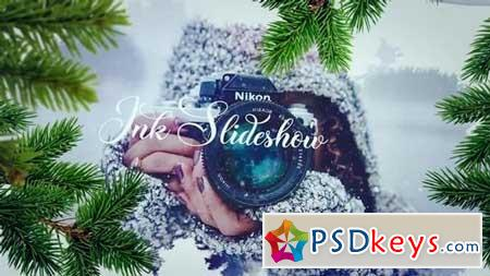 Happy Holiday Ink Slideshow 154605 After Effects Projects