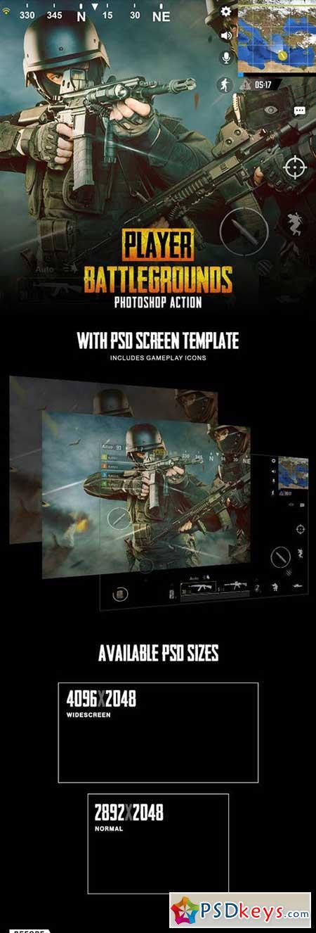Player Battlegrounds Photoshop Action 23123275