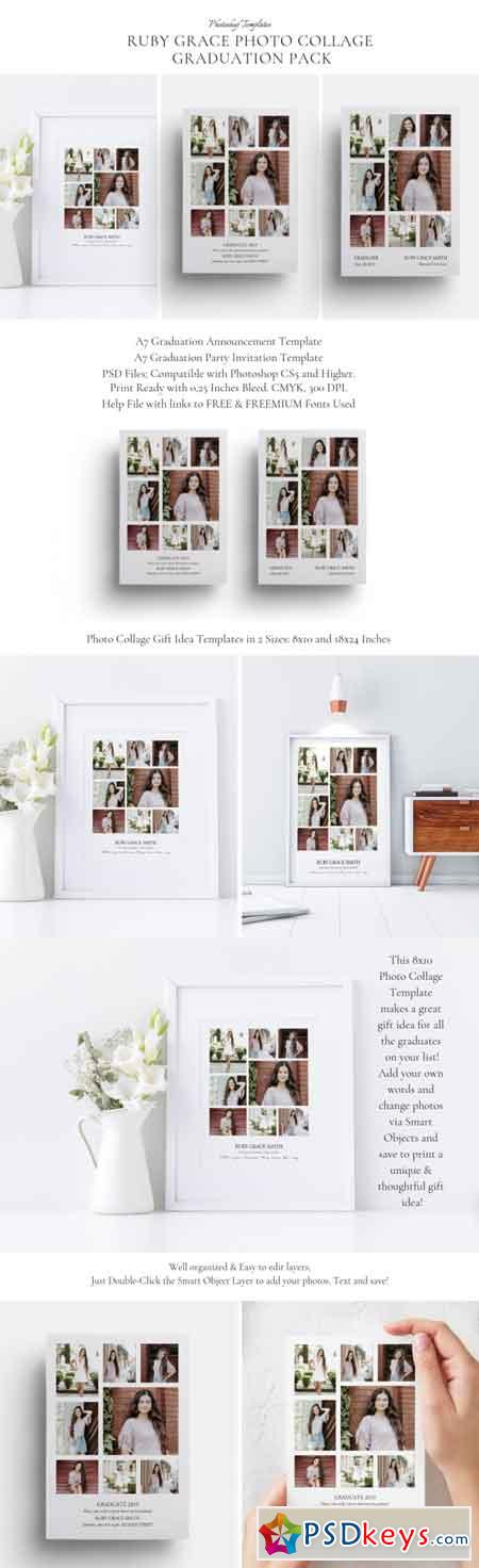 Ruby Grace Photo Collage Graduation Pack 3522808