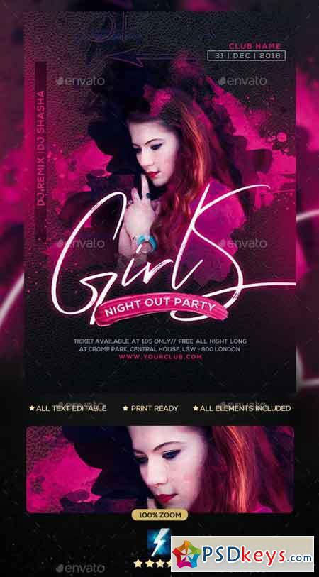 Girls Party Flyer 23136213