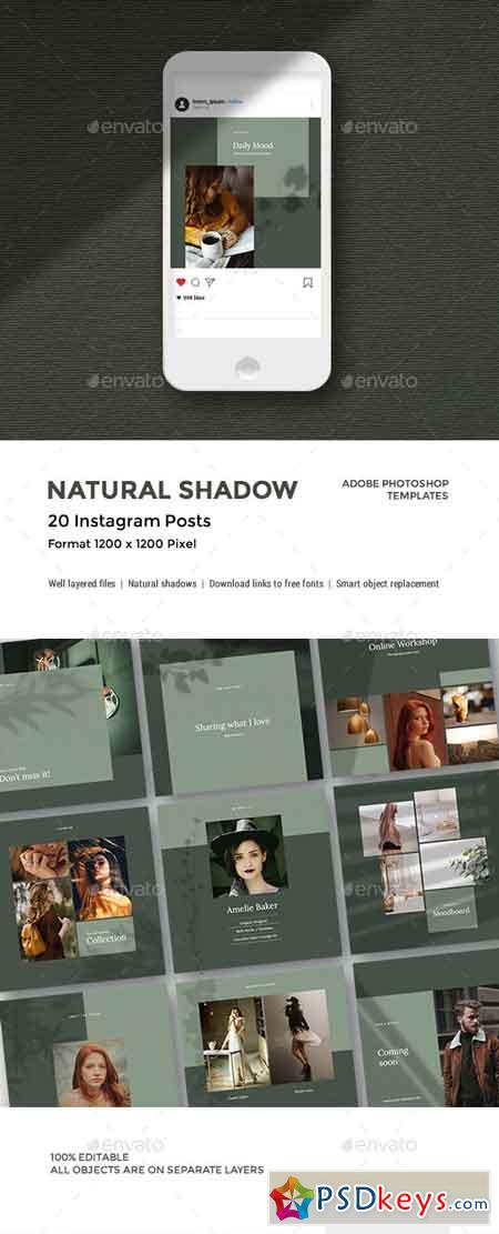 Natural Shadow - Instagram Pack 23127172