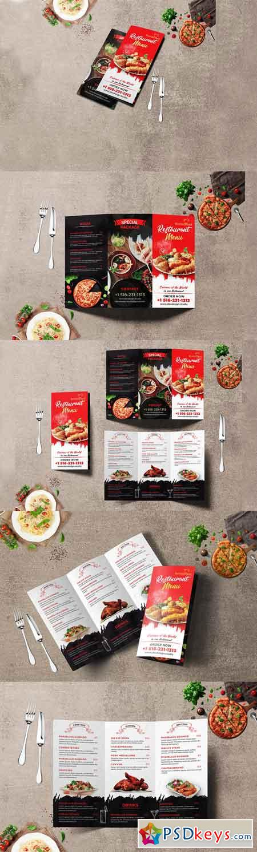 Modern Restaurant Trifold Brochure 3330030