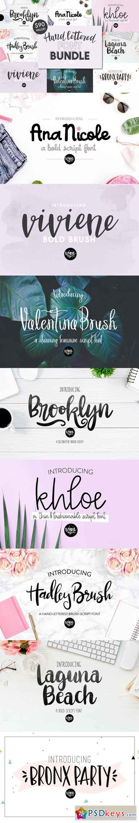 Hand Lettered Font Bundle 3522904