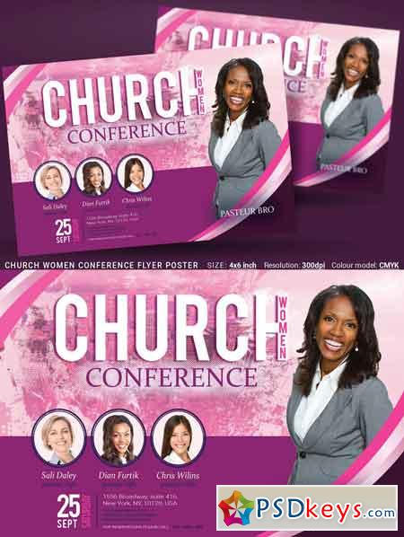 Church Women Conference Flyer Poster 3363592
